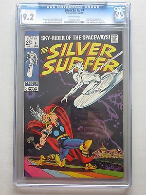 Silver Surfer #4 1969 CGC 9.2 Off-White Pages Thor Vs. Silver Surfer