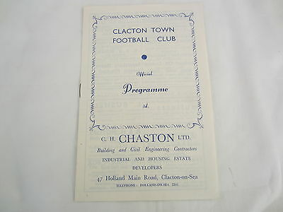 """1956-57 EASTERN COUNTIES LEAGUE CLACTON TOWN v NORWICH CITY """"A"""""""