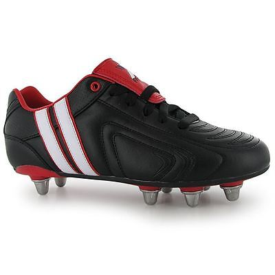 Patrick Mens Power X Rugby Boots Lace Up Padded Heel Ankle Collar Shoes Footwear