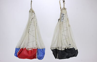 Pair of Parachute Pilot Chutes Grabber Vintage Used Condition For Display