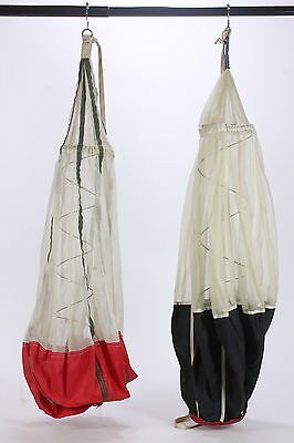 Pair of Parachute Pilot Chutes Hot Top Vintage Used Condition For Display