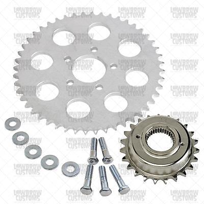 Lowbrow Customs Belt to Chain Conversion for 883 Sportsters - Silver Sprocket -