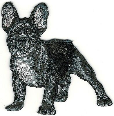 """3"""" x 3"""" French Bulldog Full Body Dog Breed Embroidery Patch"""