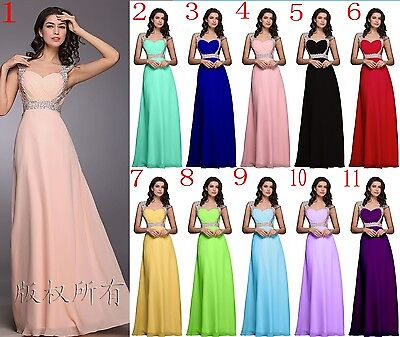Elegant Evening Party Ball Prom Gown Formal Bridesmaid Cocktail Long Dress 6-16