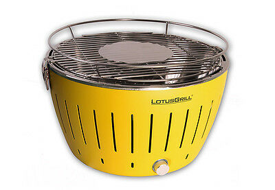 Lotus Grill Standard Yellow BBQ Barbecue Smokeless Cooking Outdoor Portable