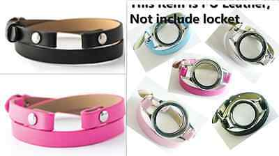 1PC PU Leather Bracelet Wristbands Fits For Floating Memory living Glass Locket