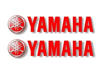 """2 YAMAHA 22"""" Graphic Vinyl Decals For Truck or Sled Snowmobile Trailer in RED"""