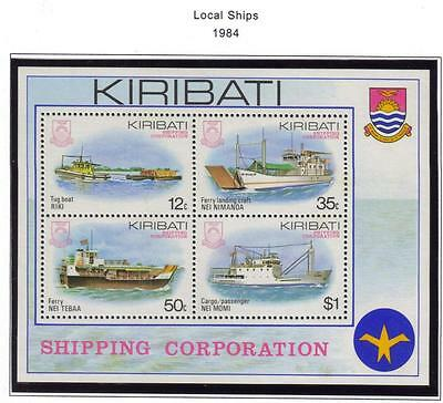 Kiribati Mnh 1984 Local Ships Minisheet