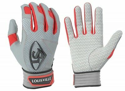 1 pr 2016 Louisville Slugger BGS716 Adult Medium Red Series 7 Batting Gloves