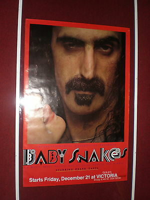 Frank Zappa POSTER Baby Snakes PROMO