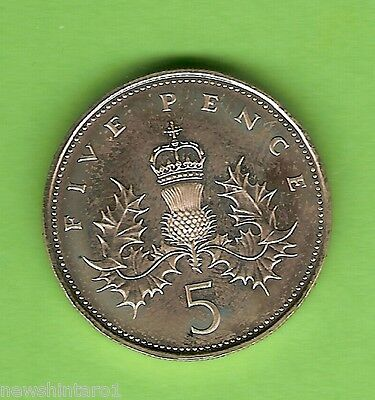 1984  Great  Britain  Proof  5  Pence  Coin