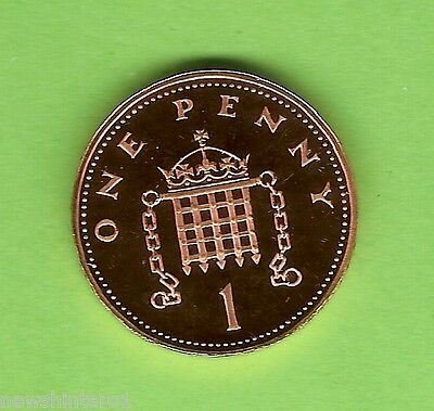 1984  Great  Britain  Proof  One  Pence  Coin