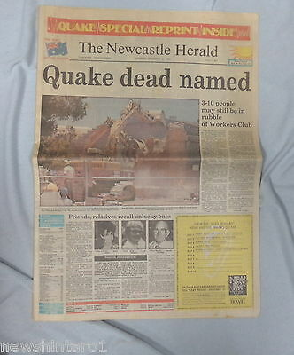 #AA. NEWCASTLE HERALD EARTHQUAKE SPECIAL 30th December 1989