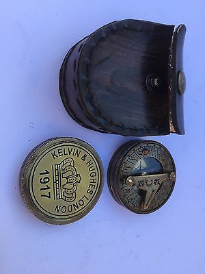 Solid Brass Collectable Pocket Sundial Compass With Calendar ( Amat 7165)