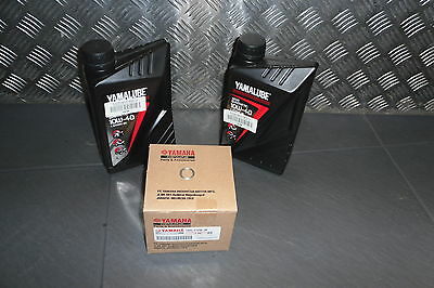 Yamaha semi  synthetic oil service kit  R3  yzfr3   genuine items only
