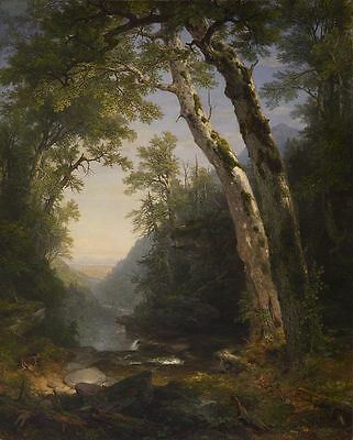 oil painting Asher Brown Durand The Catskills Walters summer landscape on canvas