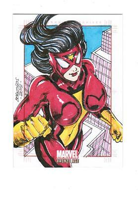 Marvel Bronze Age -  Color Sketch Card by Borgonos - Spider Woman