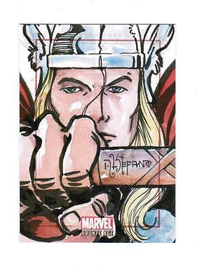 Marvel Bronze Age -  Color Sketch Card by Stefano - Thor