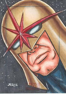 Marvel Universe 2011 - Color Sketch Card by Jennifer Mercer - Nova