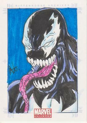Marvel Universe 2011 - Color Sketch Card by Nonato - Venom