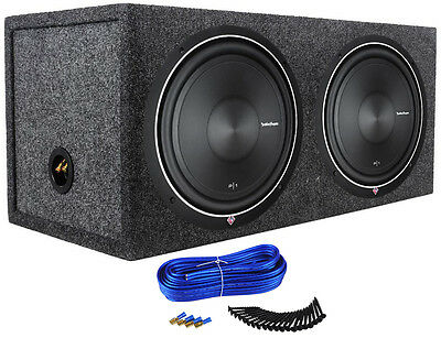 "2 Rockford Fosgate Punch P1S4-12 12"" Car Subwoofers + Sealed Sub Enclosure Box"