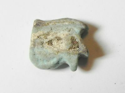 ZURQIEH -aa408- ANCIENT EGYPT , FAIENCE UDJAT EYE AMULET , 600 - 300 B.C