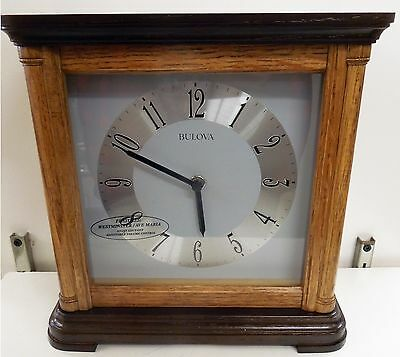Bulova  Mantel Clock -The Woodbury- With Harmonic Chimes B1657