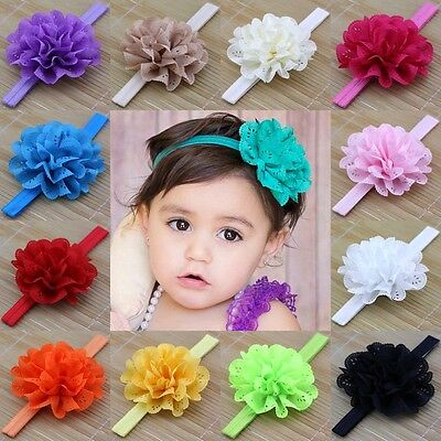10pcs Kids Girl Baby Toddler Flower Headband Hair Band Accessories Headwear Gift