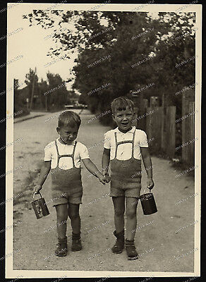Nice Portrait-jugend-Junge-Knabe-German cute Boy-zwillinge-Dress-BROTHERS-1