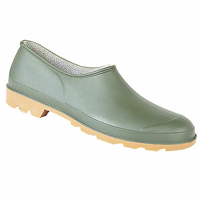 Mens Ladies Brand New Slip On Green Outdoors Garden Clog / Welly Shoes 4 - 12