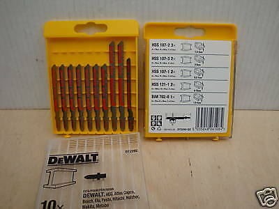 Cassette Pack Of 10 Dewalt Dt2292 Metal Cutting Jigsaw Blades