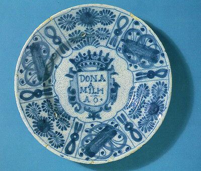 Portuguese Jewish PLATE from Amsterdam 17th century. Museum Photo Postcard