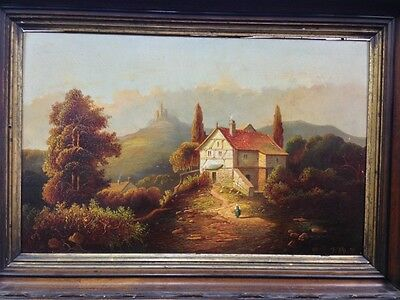 Pair Of European School 19Th C Paintings