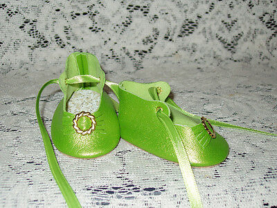 """22"""" Saucy Walker Leather Shoes ~ LIME GREEN PEARL"""