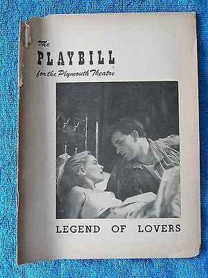 Legend Of Lovers - Plymouth Theatre Playbill - January 7th, 1952 - McGuire