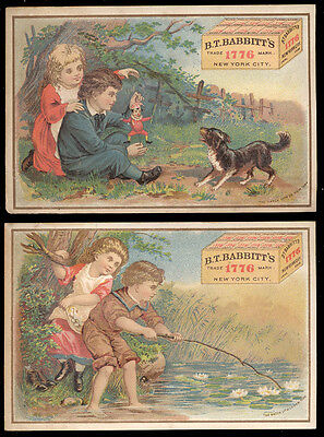 1880's B.T. BABBITT'S 1776 MEDICINAL YEAST * 2 TRADE CARDS * NOW ON SALE * TC262