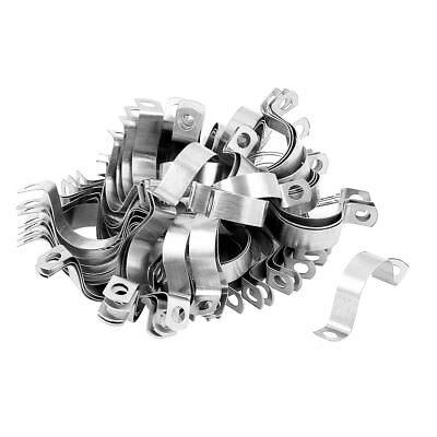 """3/4"""" Stainless Steel Two Hole Pipe Strap Clamp Fastener Holder 100pcs"""