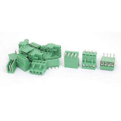 10 Sets 5.04mm Pitch Right Angle 4pin PCB Pluggable Terminal Block Connectors