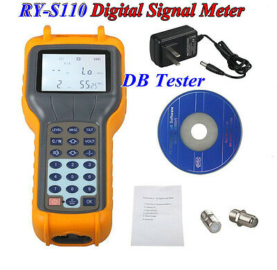 RY-S110 CATV Cable TV Handle Digital Signal Level Meter DB Tester Measurement