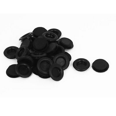 30pcs Black Rubber Closed Blind Blanking Hole Wire Cable Gasket Grommets 14mm