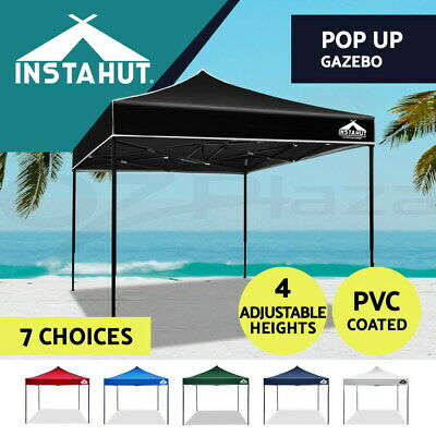Instahut 3x3m Gazebo Outdoor Pop Up Wedding Tent Folding Marquee Camping Canopy