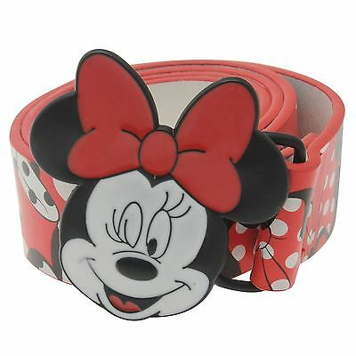 Disney Kids Childrens Minnie Buckle Belt Girls Waistband Waist Strap