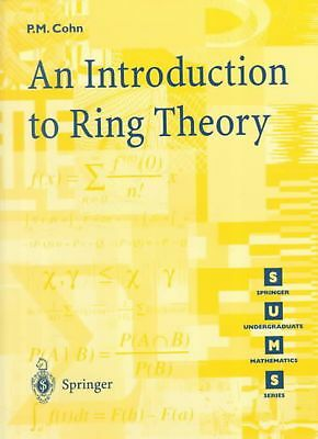 Introduction to Ring Theory by Paul M. Cohn (English) Paperback Book Free Shippi
