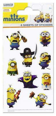 CLEARANCE Despicable Me Minions Stickers Party Pack of 6 Sheets - Party Bag Fill
