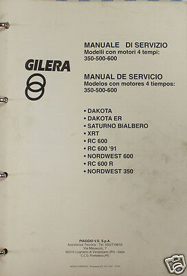 BB  Manuale Officina GILERA 350 500 600 DAKOTA XRT SATURNO NORDWEST RC