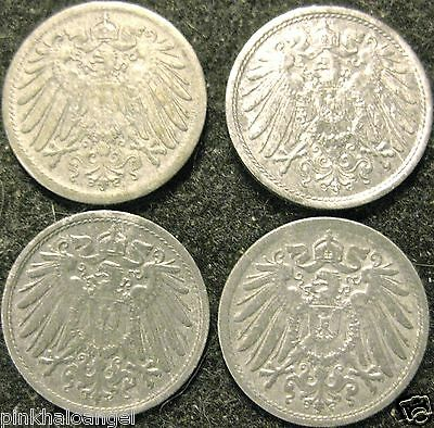 Germany - German Empire - German 1919 to 1922 10 Pfennig Coin Collection