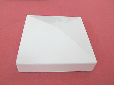 "Vinyl Fence 5""x5"" Pyramid Shape Post Top Cap White 5"" X 5"" For 5"" Square Posts"