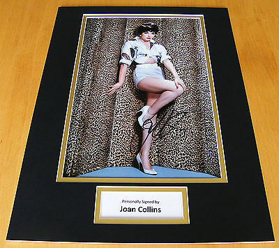 JOAN COLLINS GENUINE HAND SIGNED AUTOGRAPH 16x12 PHOTO MOUNT FILM ACTRESS & COA