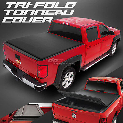 "Pick-Up Truck Tri-Fold Vinyl Tonno Tonneau Cover For 05-15 Tacoma 6'2""ft Bed"