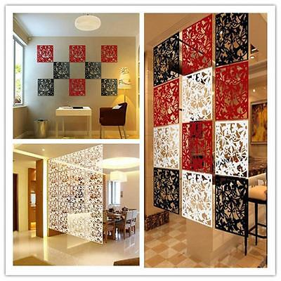 1PC Plastic Hanging Screen Partition Room Divider Wall Sticker Art Home Decor J
